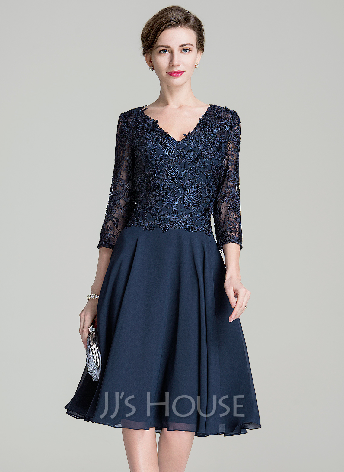 A Line Chiffon Mother Of The Bride Dress 58