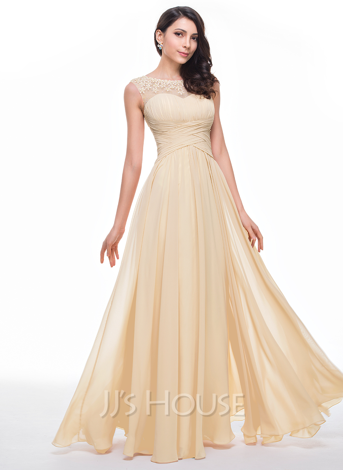 Prom dresses prom dresses jjshouse chiffon tulle prom dress with ruffle beading flowers 018056791 ombrellifo Images