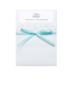 Classic Style Wrap & Pocket Invitation Cards With Ribbons (set of 50) (118040275)
