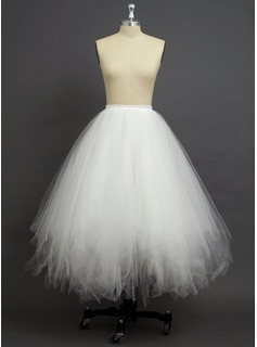 Women Tulle Netting/Polyester Full-Length 4 Tiers Petticoats