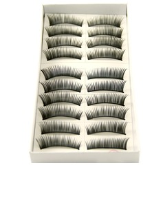 Manual Looking Curved Lashes 1088# - 10 Pairs Per Box