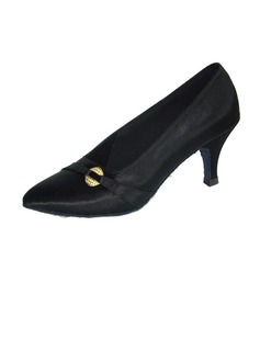 Women's Satin Heels Pumps Modern Dance Shoes