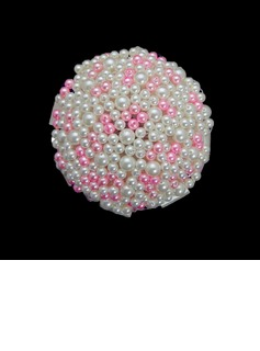 Superb Round Pearls Wedding Bouquet (123040050)