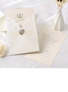 Flora Style Wrap & Pocket Invitation Cards With Ribbons (set of 50)