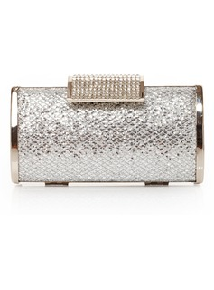 Charming Satin With Crystal/ Rhinestone Clutches