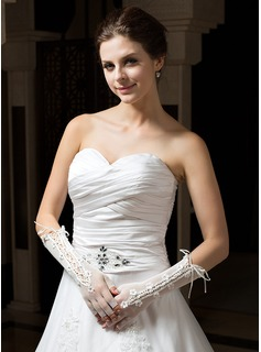 Tulle Elbow Length Party/Fashion Gloves Bridal Gloves