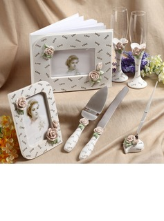 Spring Floral Designed Collection Set in Delicate Resin With Roses (100040026)