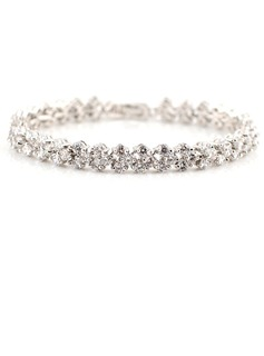 Beautiful Zircon/Platinum Plated Ladies' Bracelets