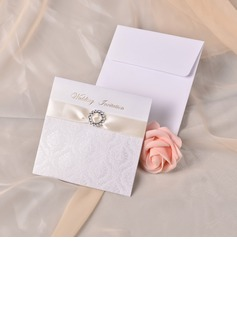Classic Style French-Fold Invitation Cards With Ribbons (set of 50) (118040264)