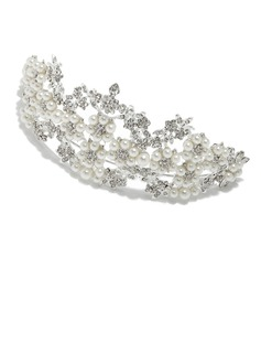Special Alloy/Imitation Pearls Tiaras