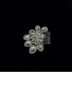 Alloy With Crystal / Imitation Pearl Women's Hair Combs (042025255)