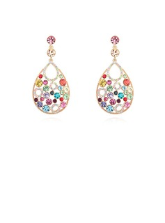 Shining Gold Plated Crystal Ladies' Fashion Earrings