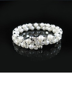Elegant Alloy With Pearl/Rhinestone Ladies' Bracelets