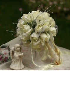 Classic Round Satin Bridal Bouquets