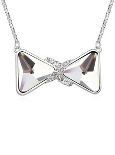 Butterfly Shaped Platinum Plated/Glass Women's/Ladies' Necklaces