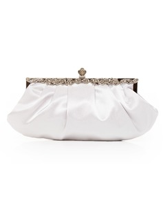 Gorgeous Silk With Crystal/ Rhinestone Clutches/Evening Handbags