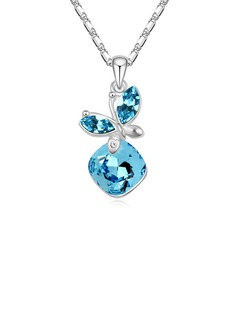 Shining Platinum Plated With Crystal Ladies'/Child's Necklaces