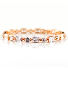 Gorgeous Zircon/Gold Plated Ladies' Bracelets