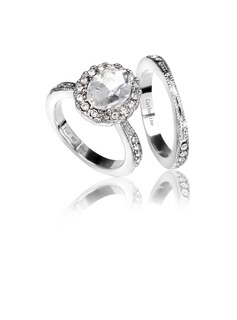 Personalized Alloy/Platinum Plated Couples' Rings