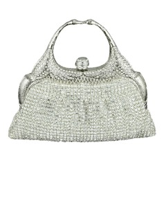 Gorgeous Crystal/ Rhinestone With Metal Clutches/Top Handle Bags (012040755)