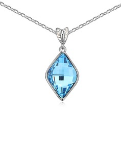 Charming Platinum Plated With Crystal Ladies' Necklaces