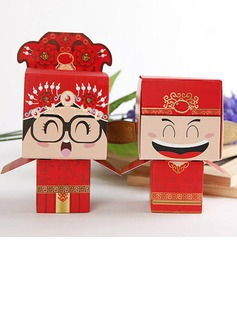 Chinese Style Bride & Groom Favor Box (Set of 6 Pairs) (050013286)