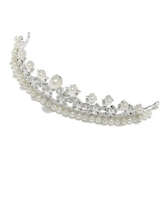Fashion Alloy/Imitation Pearls Tiaras