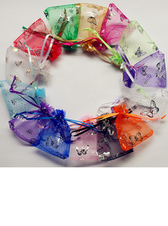Butterfly Theme Favor Bags With Ribbons (Set of 12)