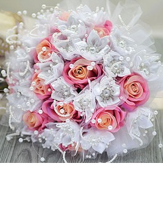 Cute Round Satin/Artificial Silk Bridal Bouquets