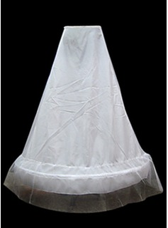 Nylon A-Line 1 Tier Floor-length Slip Style/ Wedding Petticoats   (037024162)