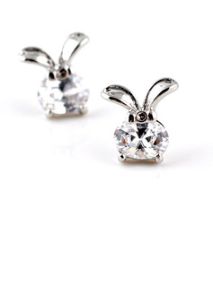 Rabbit Zircon Girls' Fashion Earrings