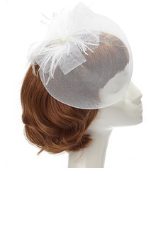 Glamourous Feather/Net Fascinators