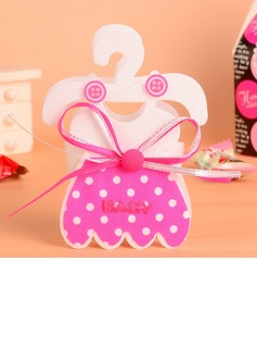 Baby Dress Design Favor Bags With Bow