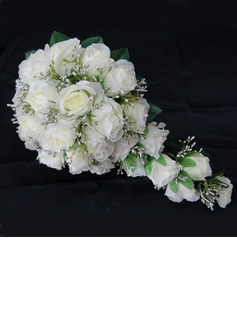Charming Cascade Satin Wedding Bouquet