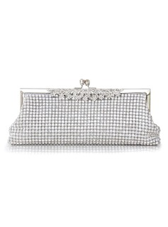Gorgeous Crystal/ Rhinestone With Metal Clutches (012026988)