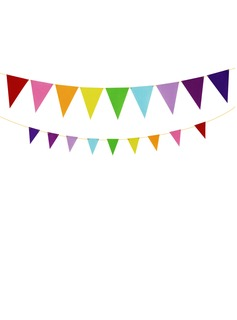 Colorful Fabric Banner (9 pieces)