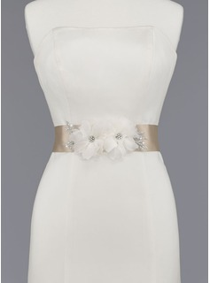 Women Satin Organza Sash