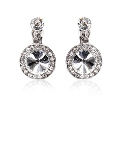 Earrings Anniversary Wedding Engagement Birthday Gift Party Daily Alloy With Rhinestones Silver Jewelry With Rhinestone (011018486)