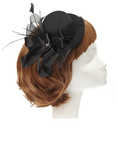 Elegant Artificial Silk/Feather/Net Fascinators