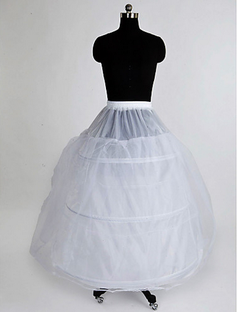 Nylon Ball Gown Full Gown 3 Tier Floor-length Slip Style/ Wedding Petticoats  (037023562)