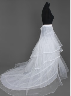 Nylon / Tulle Chapel Train Wedding Petticoats  (037004077)