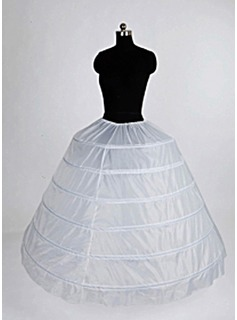 Nylon Ballkleid Ballkleid Vollstndige 1 Tier bodenlangen Slip-Style / Hochzeit Petticoats (037004105)