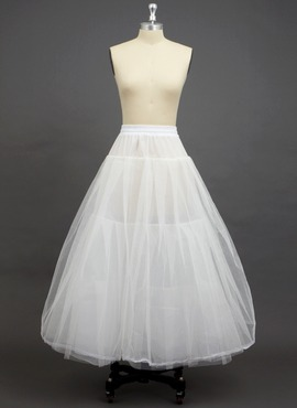 Women Tulle Netting/Polyester Floor-length 3 Tiers Petticoats (037033971)