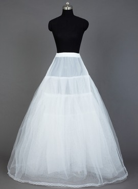 Women Nylon/Tulle Netting Floor-length 4 Tiers Petticoats (037031004)