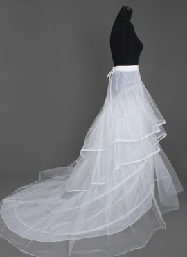 Women Nylon/Tulle Netting Floor-length 3 Tiers Petticoats (037004077)