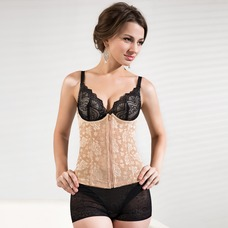 Underbust Chinlon Front Zipper Closure Shapewear (125033865)