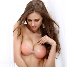 Silicone 3/4 Cup Strapless Invisible Wedding Party Bra (041004216)