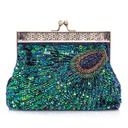 Unique Sparkling Glitter With Beading/Sequin Clutches (012026247)