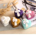 Heart-shaped Favor Tin With Bow (Set of 12) (050075242)