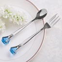 Crystal Diamond Stainless Steel Spoon And Fork Set (051041862)